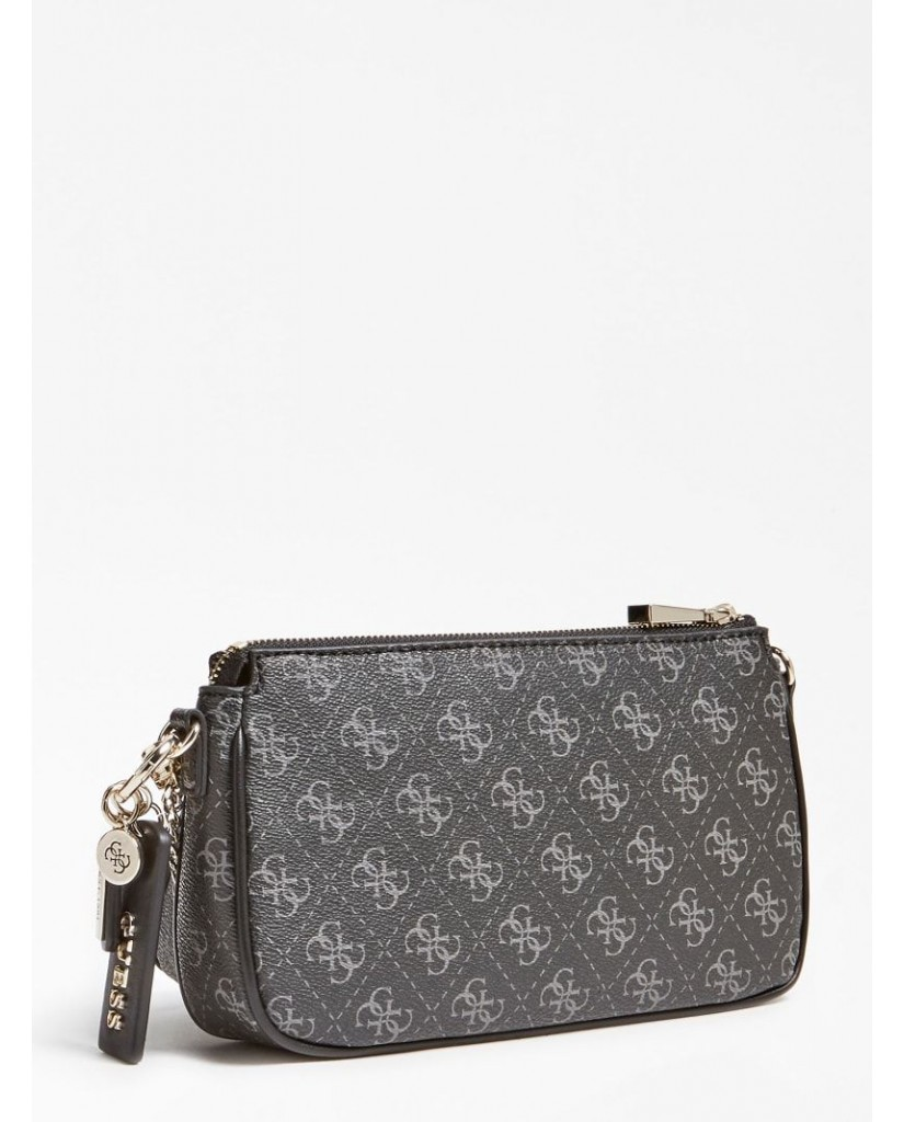 Guess Tracolle   Arie double pouch crossbody Donna Black Fashion