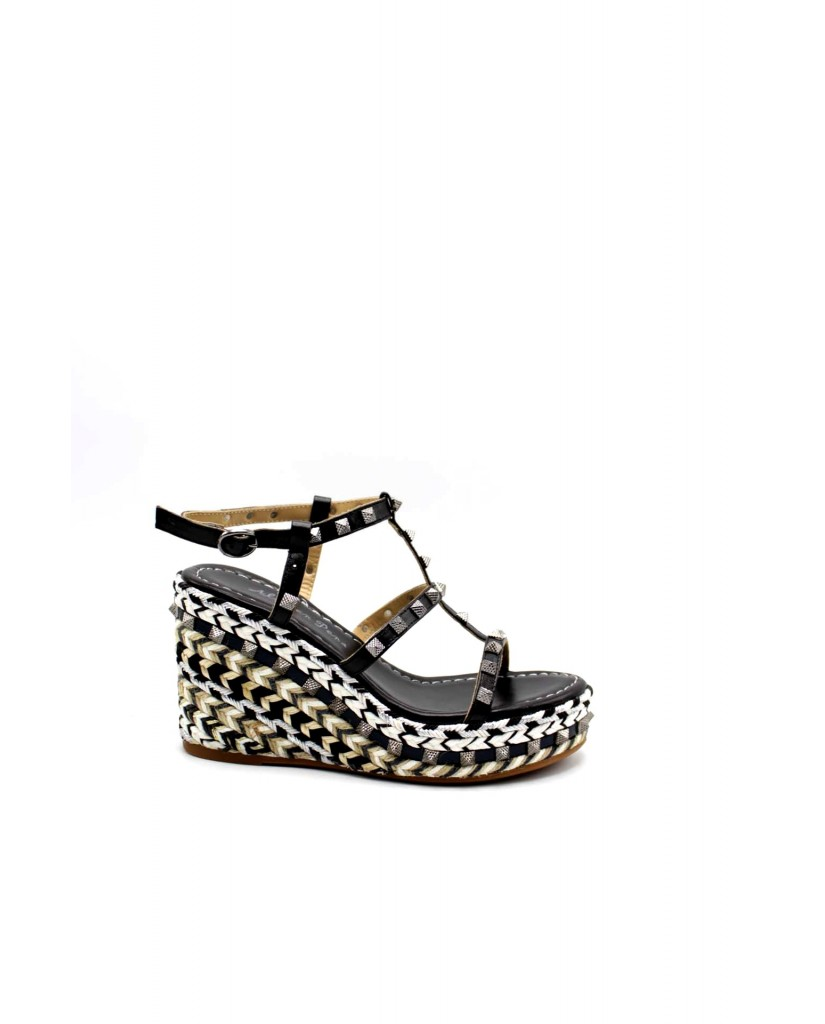 Alma en pena Sandali F.gomma Donna Nero Fashion