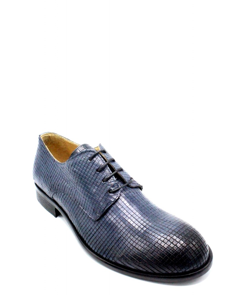Exton Stringate F.gomma 39/46 derby 5354 made in italy Uomo Jeans Fashion