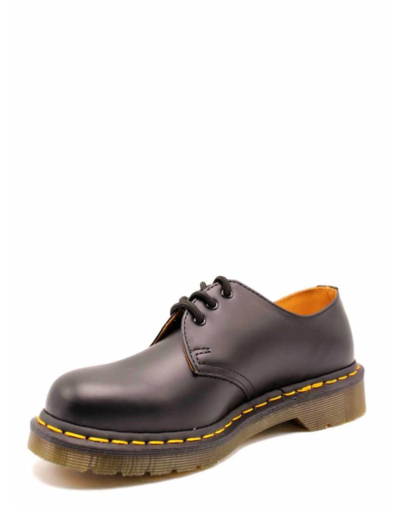 Dr. martens Stringate F.gomma 1461 z smooth black last 59 Unisex Nero Fashion