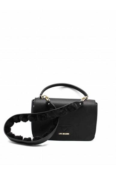 Moschino Tracolle   Borsa pu+poliestere nero Donna Nero Fashion