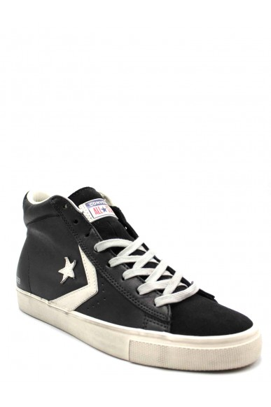 Converse Sneakers F.gomma Pro leather vulc distressed mid bla Uomo Nero Casual