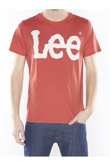 Lee T-shirt Uomo Rosso Casual