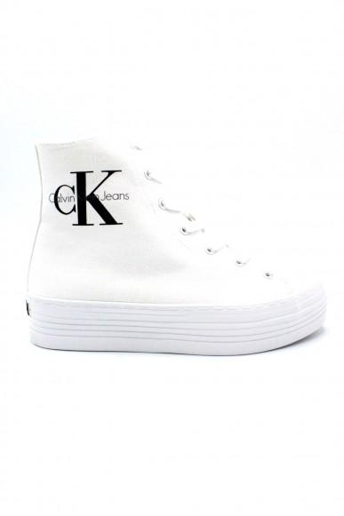 Calvin klein Sneakers F.gomma 35/41 zabrina Donna Bianco Fashion