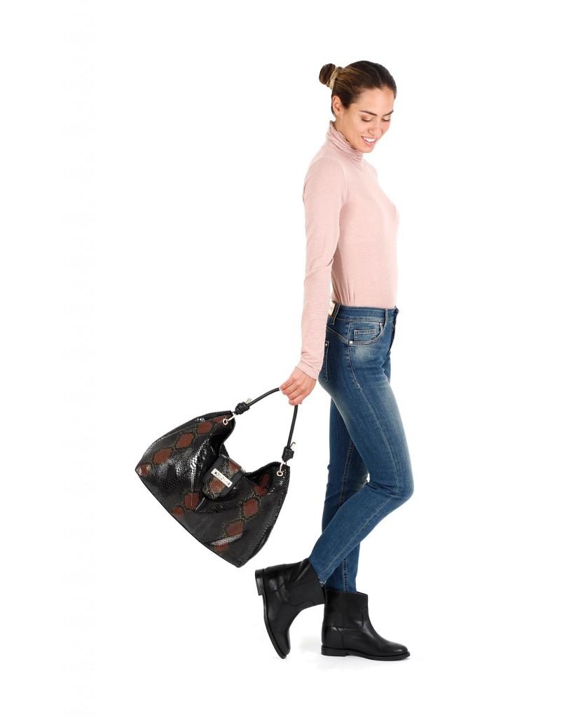 Cafe' noir Borse   Sacca con pattina Donna Nero Fashion