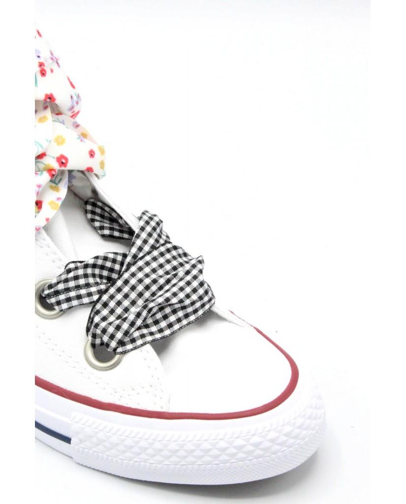Converse Sneakers F.gomma 36/41 chuck taylor high 2018 Donna Bianco-blu Sportivo