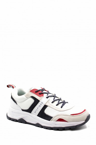 Tommy hilfiger Sneakers F.gomma Fashion mix sneaker Uomo Bianco Fashion