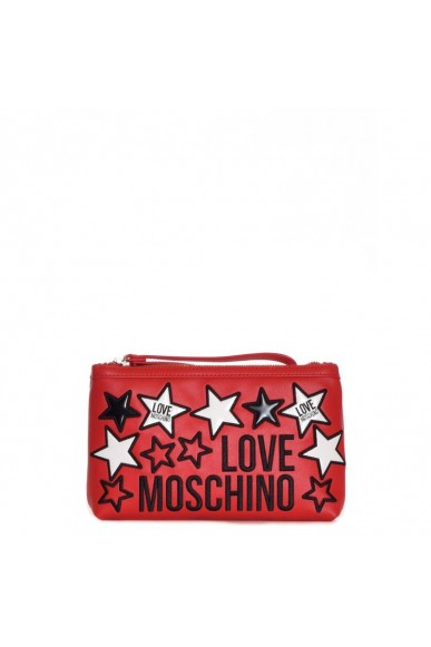 Moschino Tracolle   Tracolla con patch stelle Donna Rosso Fashion