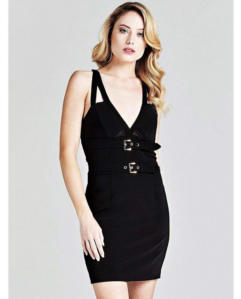 Guess Abiti   Maura dress Donna Nero Fashion