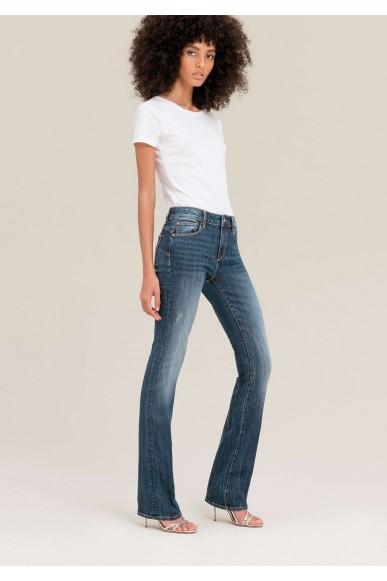 Fracomina Jeans   Perfect bootcut pant stonewash Donna Grigio Fashion
