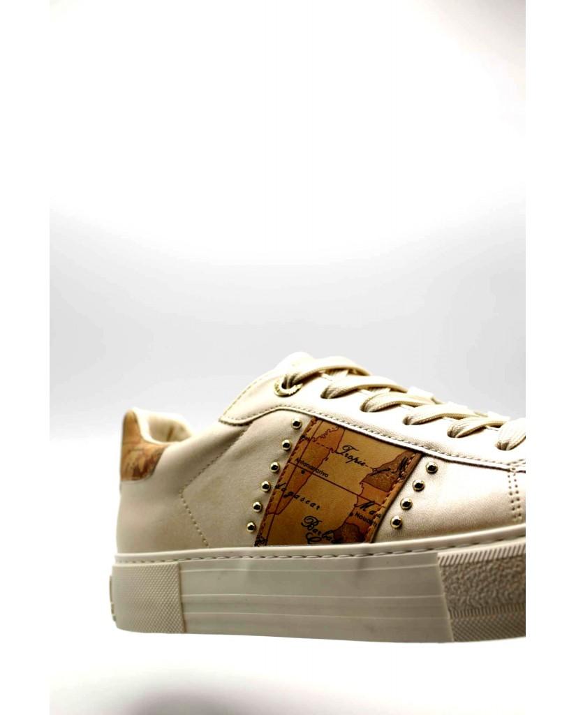 1^classe  Sneakers F.gomma 0879 Donna Platino Fashion