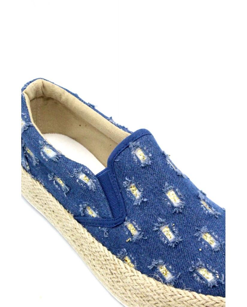 Energi Slip-on F.gomma 36/41 129 Donna Jeans-blu Fashion