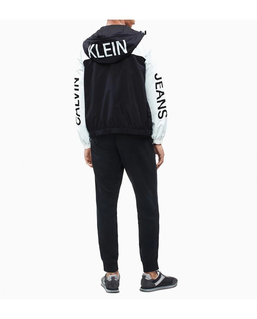 Calvin klein jeans Giacchetti   Statement logo windb Uomo Nero Fashion