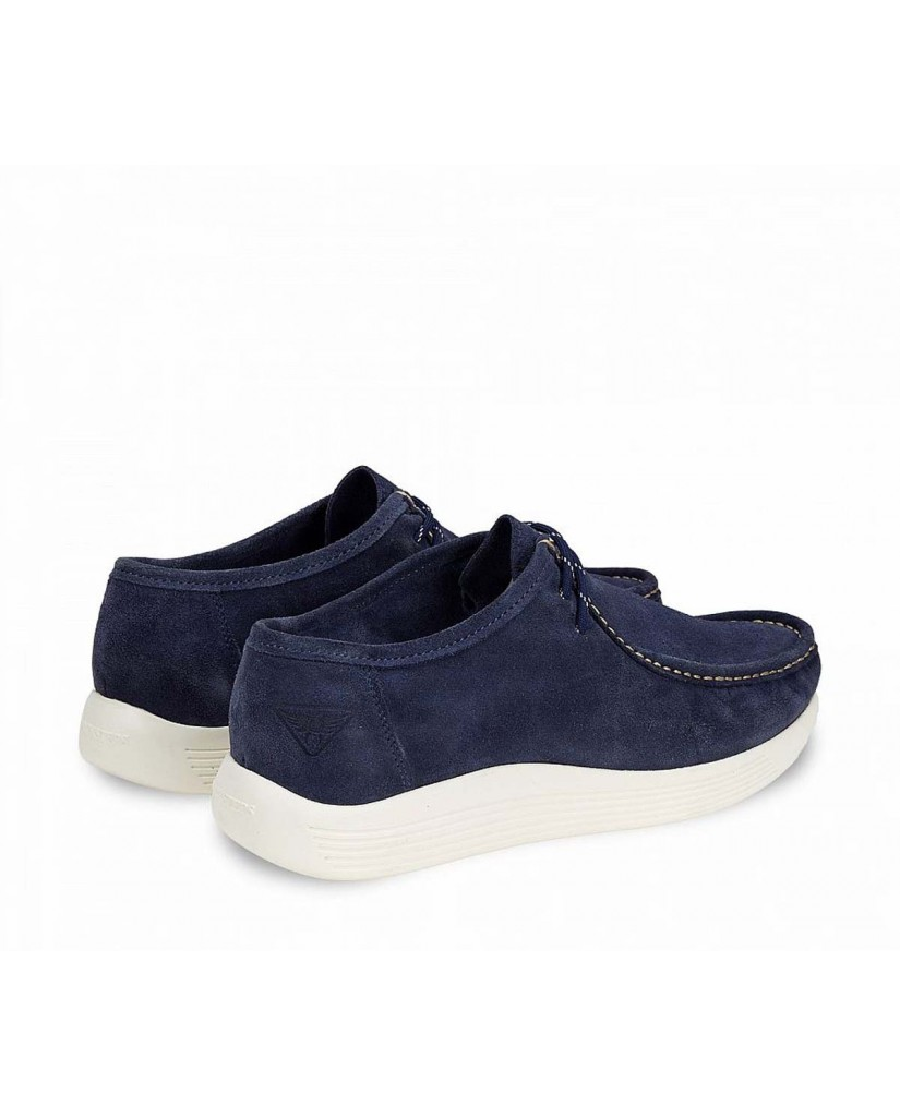 Docksteps Polacchine F.gomma Independent low m 008 suede avion Uomo Celeste Casual