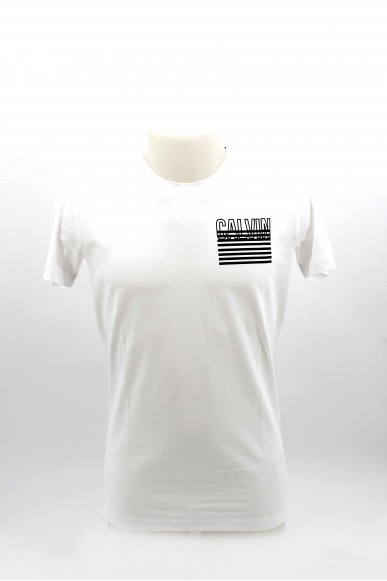 Calvin klein T-shirt T-shirt uomo calvin klein Uomo Bianco Casual