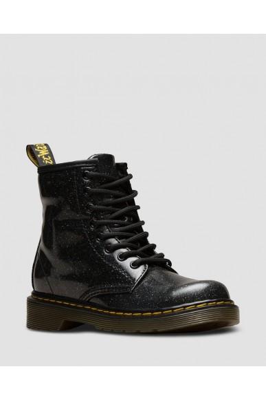 Dr. martens Stivaletti F.gomma 1460 glitter black Bambino Nero Fashion