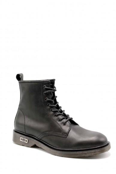Cult Stivaletti   Ozzy 416 mid m leather black Uomo Nero Fashion