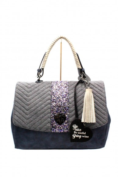 Le pandorine Borse - Pon pon be nice glitter Donna Dark grey Fashion