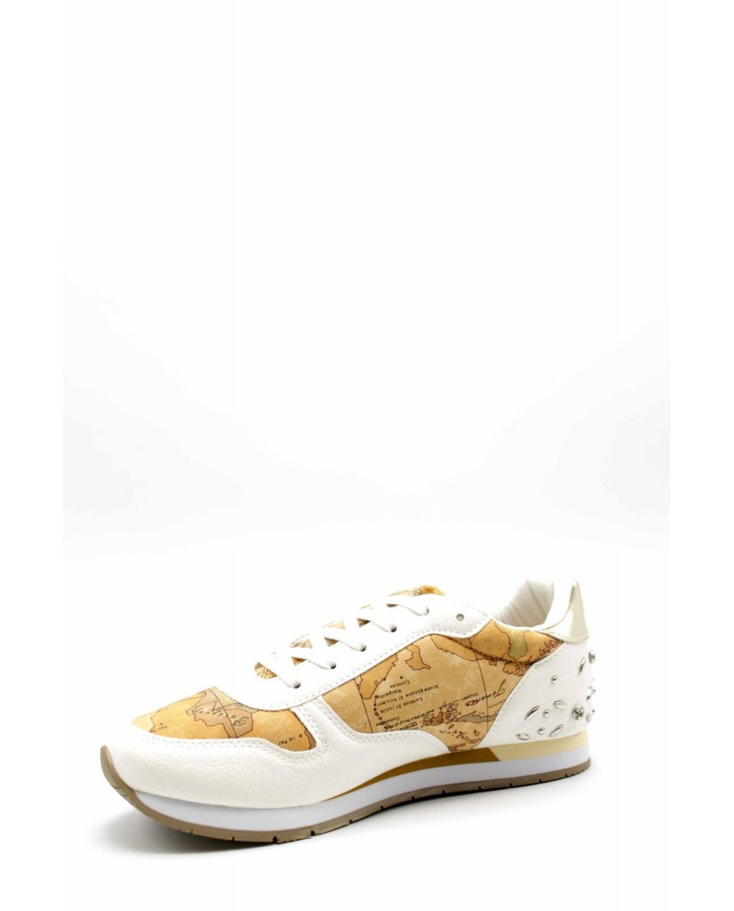 1^classe  Sneakers F.gomma N0211 Donna Bianco Fashion
