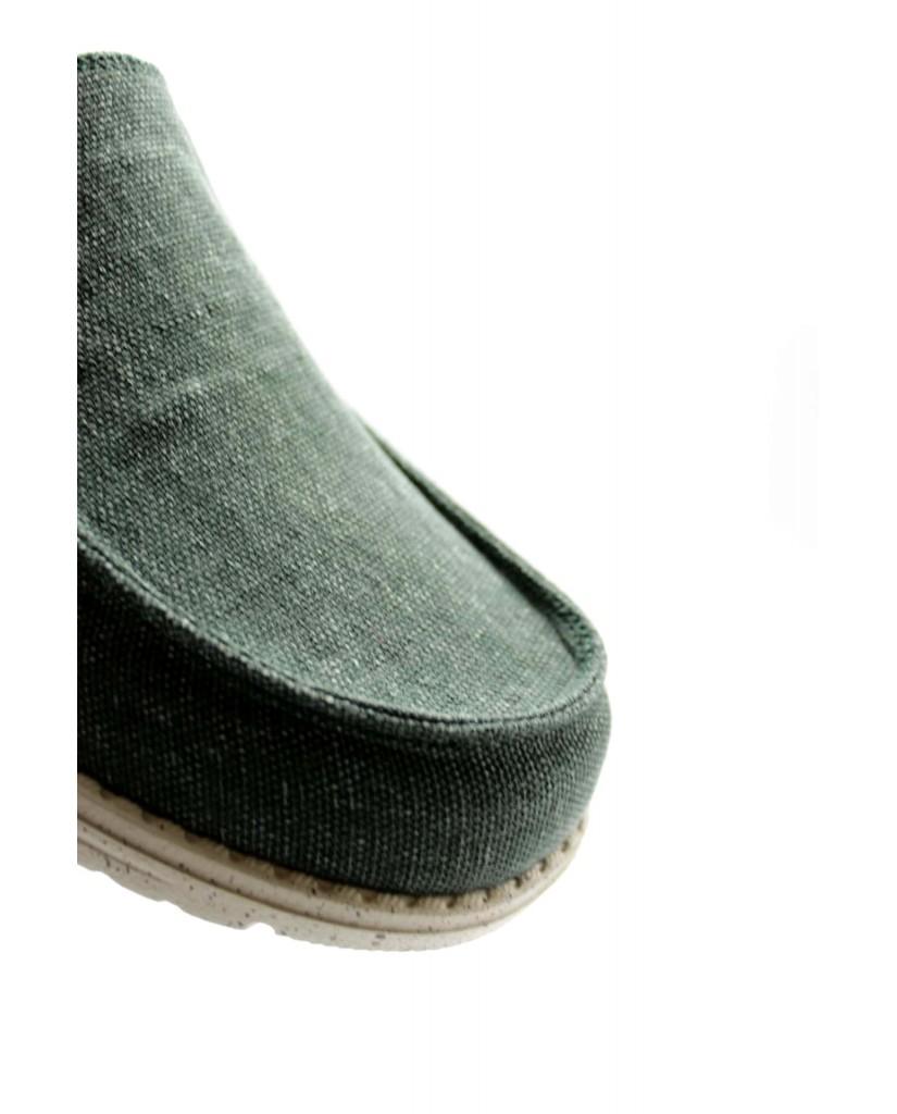 Cafe' noir Slip-on F.gomma Slip on con vaschetta in tessuto Uomo Verde Fashion