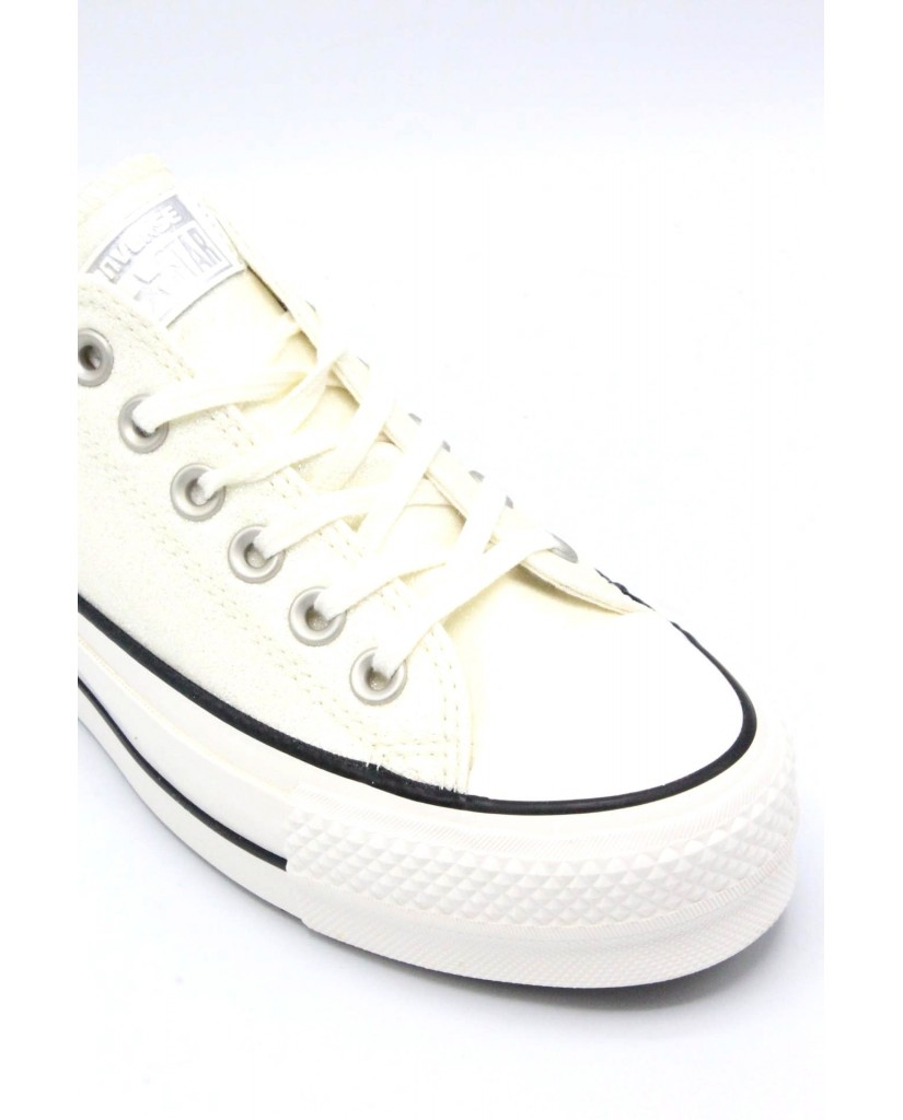 Converse Sneakers F.gomma 35/40 chuck taylor 2018 Donna Argento Sportivo