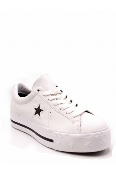 Converse Sneakers F.gomma One star platform ox white/black/wh Donna Bianco Casual