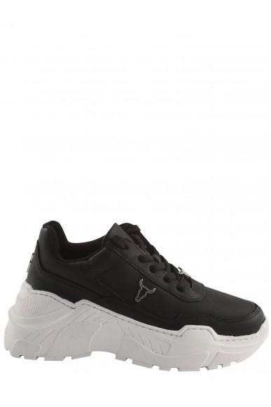 Windsor smith Sneakers F.gomma Carte brave white/white sole Donna Nero Fashion