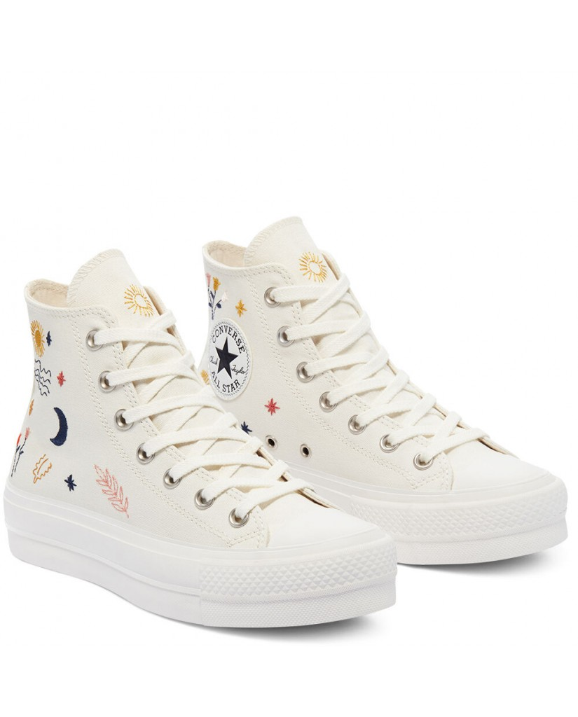Converse Sneakers F.gomma Ctas lift hi Donna Bianco Fashion