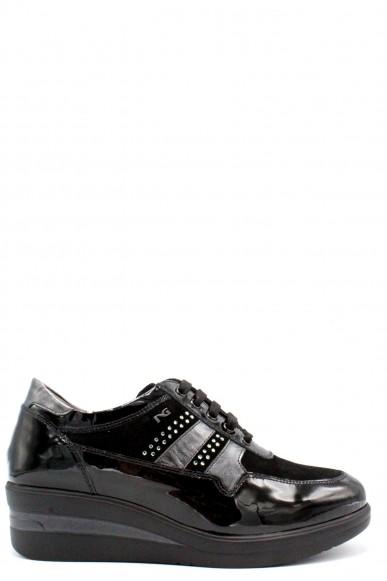 Nero giardini Stringate F.gomma Vernice nero velour nero laminato f Donna Nero Fashion