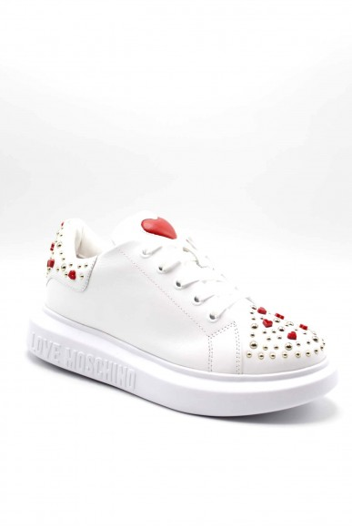 Moschino Sneakers F.gomma Sneakerd.gomma40 vitello bianco Donna Bianco Fashion
