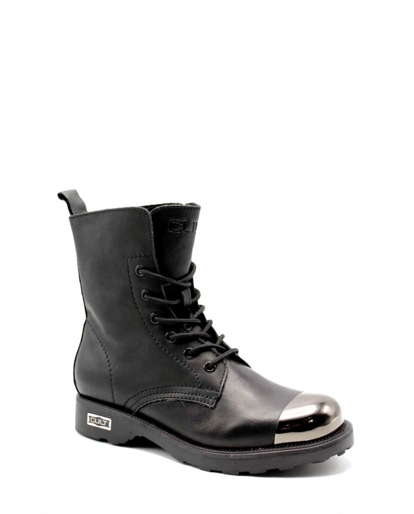 Cult Stivaletti   Zeppelin 648 mid w leather black/gu Donna Nero Fashion