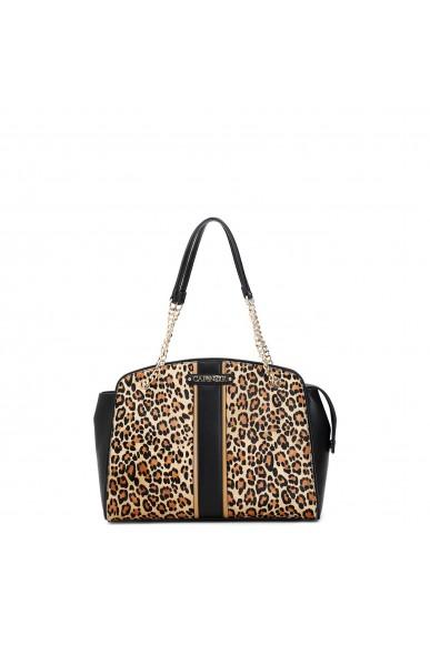 Cafe' noir Borse   Shopping leopardo con fascia centra Donna Maculato Fashion