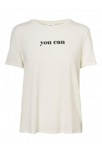 Vero moda T-shirt   Vmwoman20 ss tee vma Donna Bianco Fashion