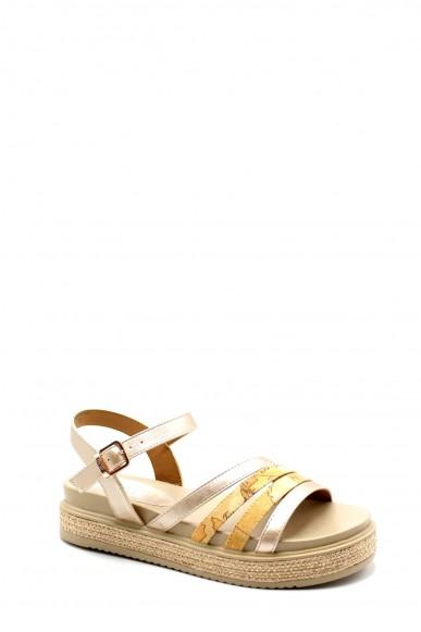 1^classe  Sandali F.gomma Sandalo n0582 0568 Donna Oro Fashion