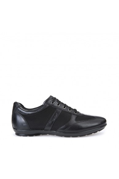 Geox Sneakers F.gomma U symbol c - text+smooth lea Uomo Nero Elegant