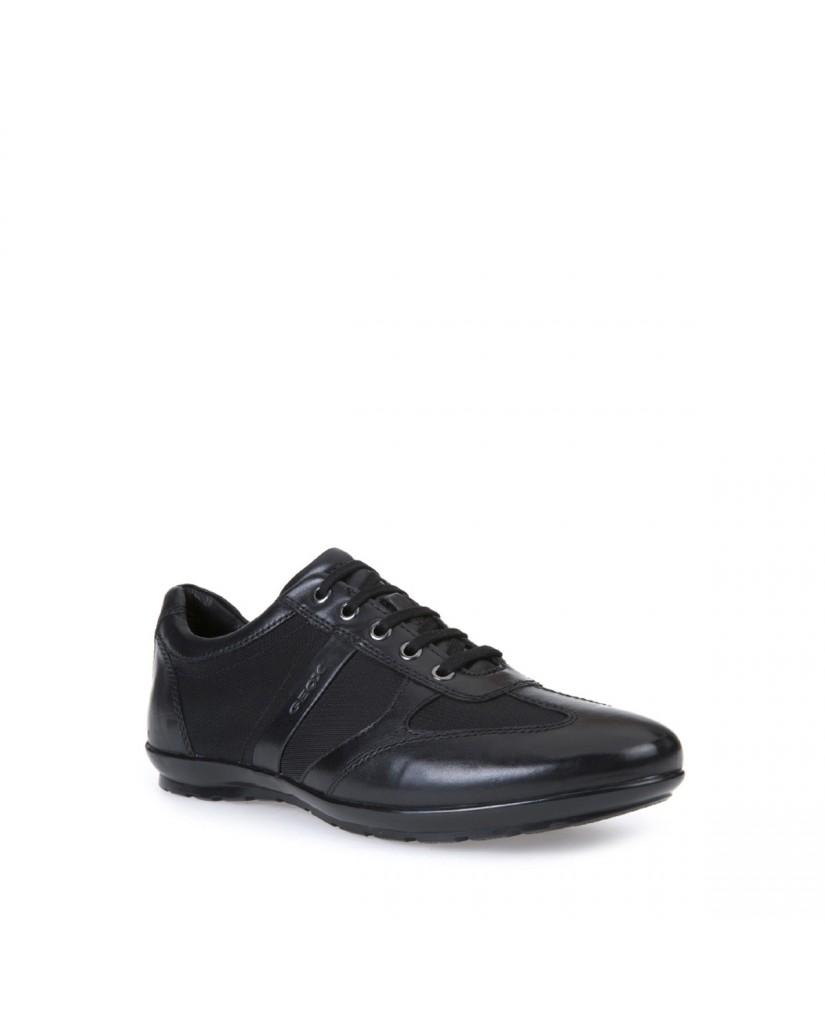 Sneakers Uomo Lea Nero F Geox Elegant U Text gomma C Symbol smooth dhrtsQC