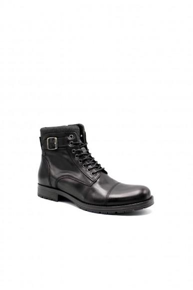 Jackejones Stivaletti F.gomma Jfwalbany leather anthracite sts Uomo Grigio Fashion
