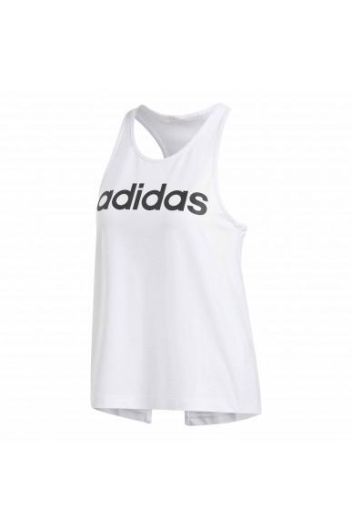 Adidas Canottiere   W d2m lo tank       white/black Donna Bianco Sportivo