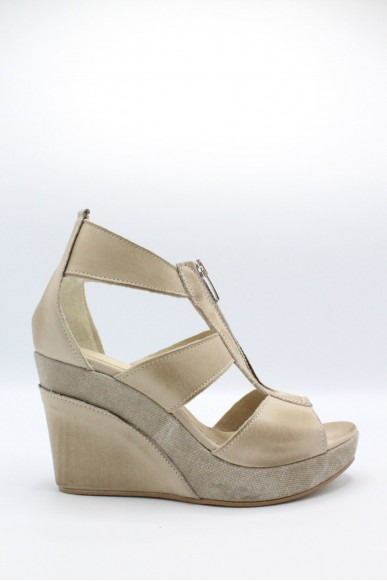 Euroshoes Sandali F.gomma Made in italy Donna Taupe Fashion