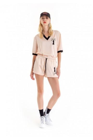 Gaelle paris Shorts   Shorts+ricamo Donna Rosa Fashion