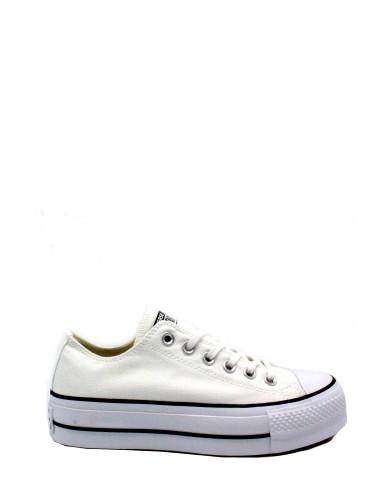 Converse Sneakers F.gomma 35/41 Donna Bianco-blu Sportivo