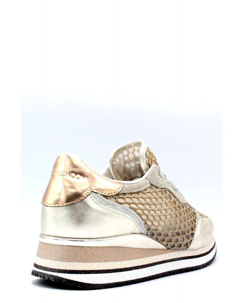 Crime london Sneakers F.gomma 36/40 25549 made in italy Donna Oro Casual