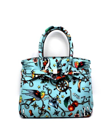 Save my bag Borse - Miss tattoo made in italy Donna Celeste Fashion