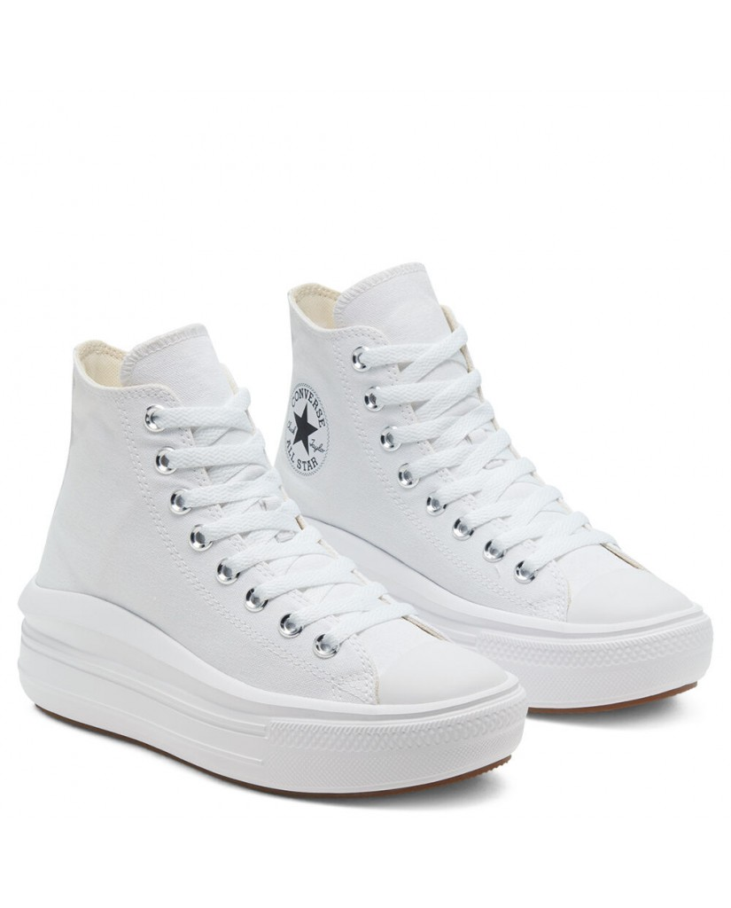 Converse Sneakers F.gomma Ctas move hi white/natural ivory/bl Donna Bianco Fashion