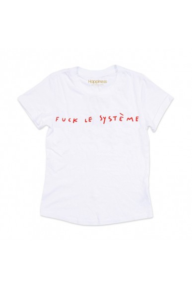 Happiness T-shirt Xs-l Donna Bianco