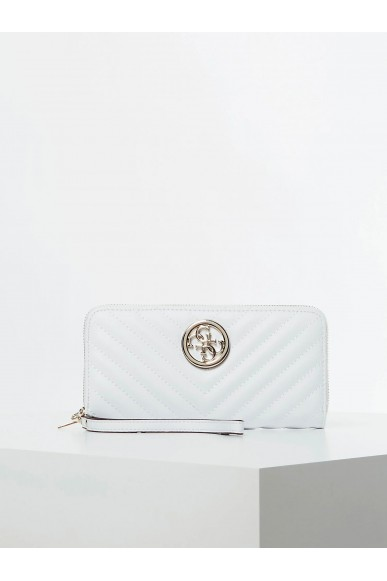 Guess Portafogli   Blakely slg large zip around Donna Bianco Fashion