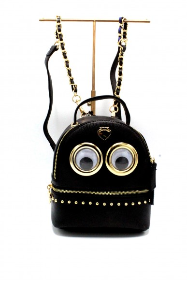 Le pandorine Backpacks - Mini backpack eyes story Donna Black Fashion