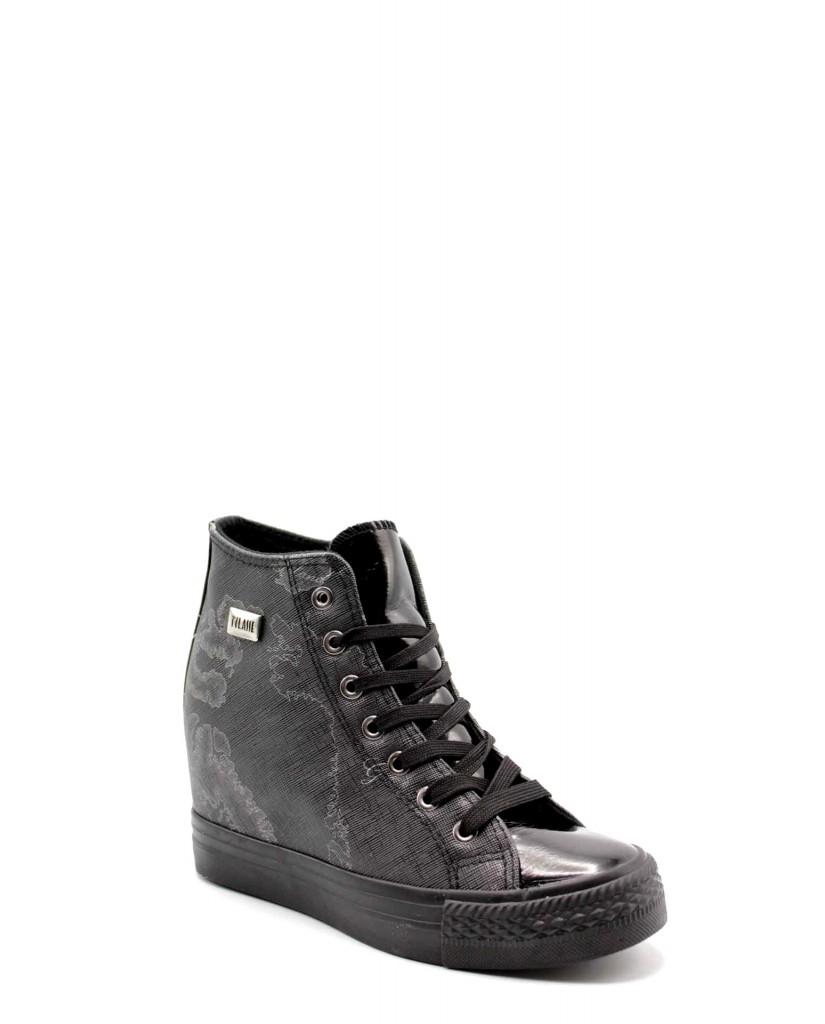 1^classe  Sneakers F.gomma Sneaker alta zeppa i Donna Nero Fashion