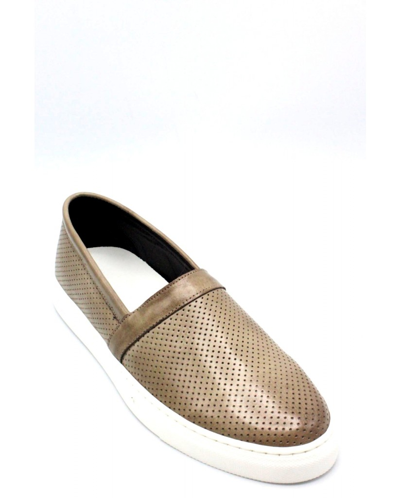 Bottega marchigiana Slip-on F.gomma 40/45 sbm14 made in italy Uomo Taupe Fashion