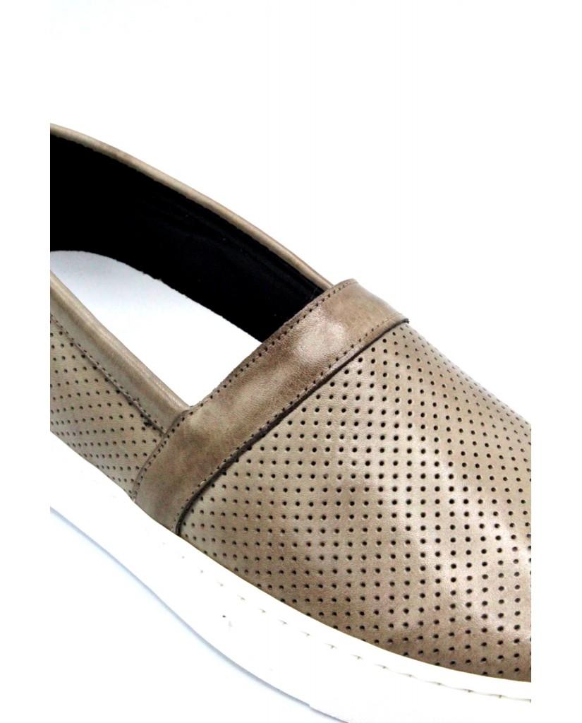Bottega marchigiana Slip-on F.gomma 40/45 sbm14 made in italy Uomo Taupe Fashion
